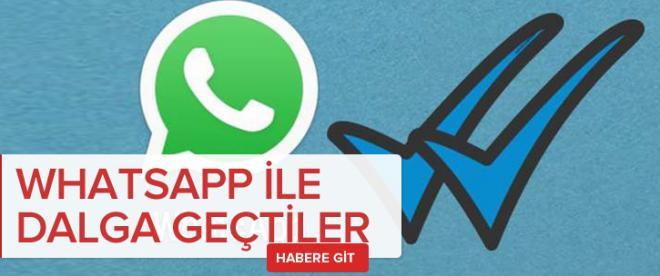 WhatsApp'ın Mavi Tık özelliğiyle dalga geçtiler
