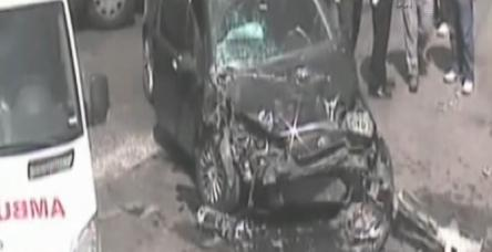Opera sanatçılarının kaza anı kamerada !
