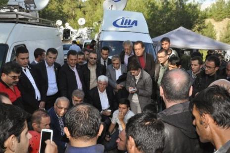 Ermenek'de bakanlar'dan gazetecilere ziyaret