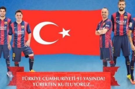Barcelona farkı! 29 Ekimi kutladılar