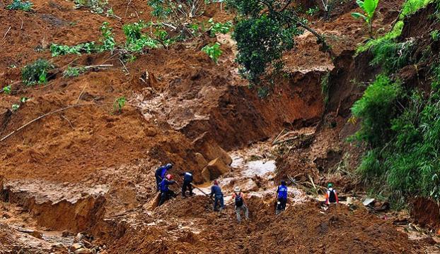 Endonezyadaki heyelanda 79 kişi öldü
