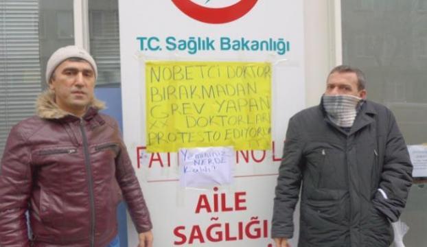 Bu da iş bırakan hekimleri protesto