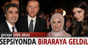 Cumhurbaşkanı Erdoğan ve Necati Şaşmaz resepsiyonda bir arada