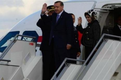 Erdoğan Letonyaya uçtu