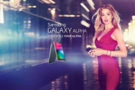Hollandalı top model Galaxy Alpha reklamında