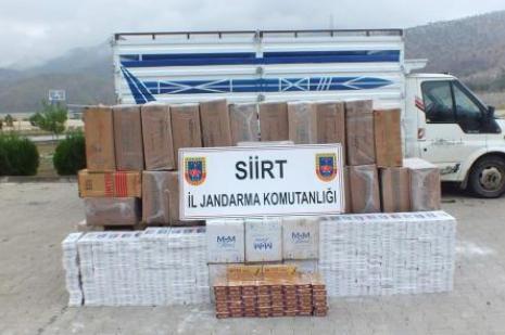 Jandarmadan sigara kaçakçılarına darbe