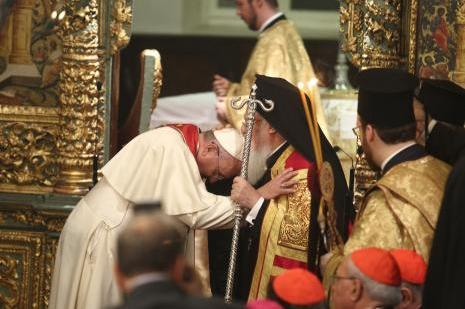 Papa, Patrikhanede ayine katıldı