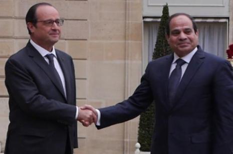 Abdülfettah el-Sisi François Hollande ile görüştü