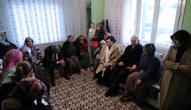 Kaynaktan aileklere başsağlığı ziyareti