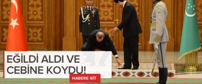 Türk bayrağını yine yerde bırakmadı
