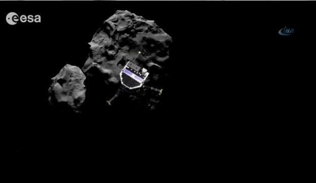 """""""Philae"""" modülünün kuyruklu yıldıza tarihi inişi gerçekleşti!"""