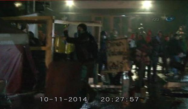 Validebağdaki olaylar kamerada