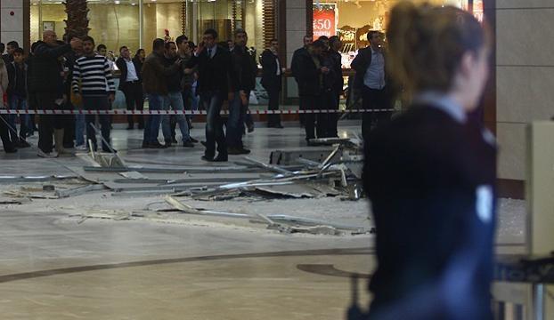 Diyarbakırda bir AVMde asma tavan çöktü: 3 yaralı