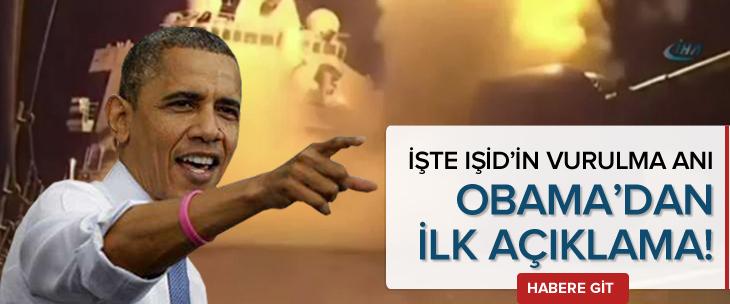 IŞİD böyle vuruldu İşte Obama'dan ilk açıklama