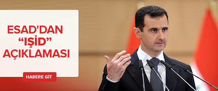 Esad'tan ilk açıklama